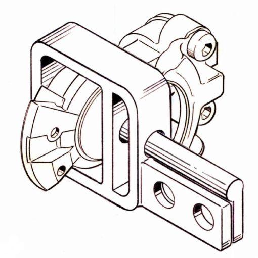 Glad Hand Lock D Lock Double Hole