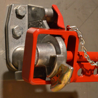 double hole lock with chain glad hand lock